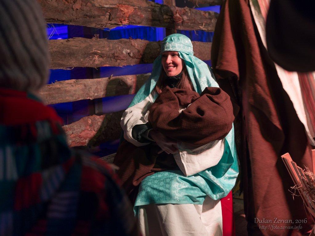 živý Betlehem na SSND, 2016