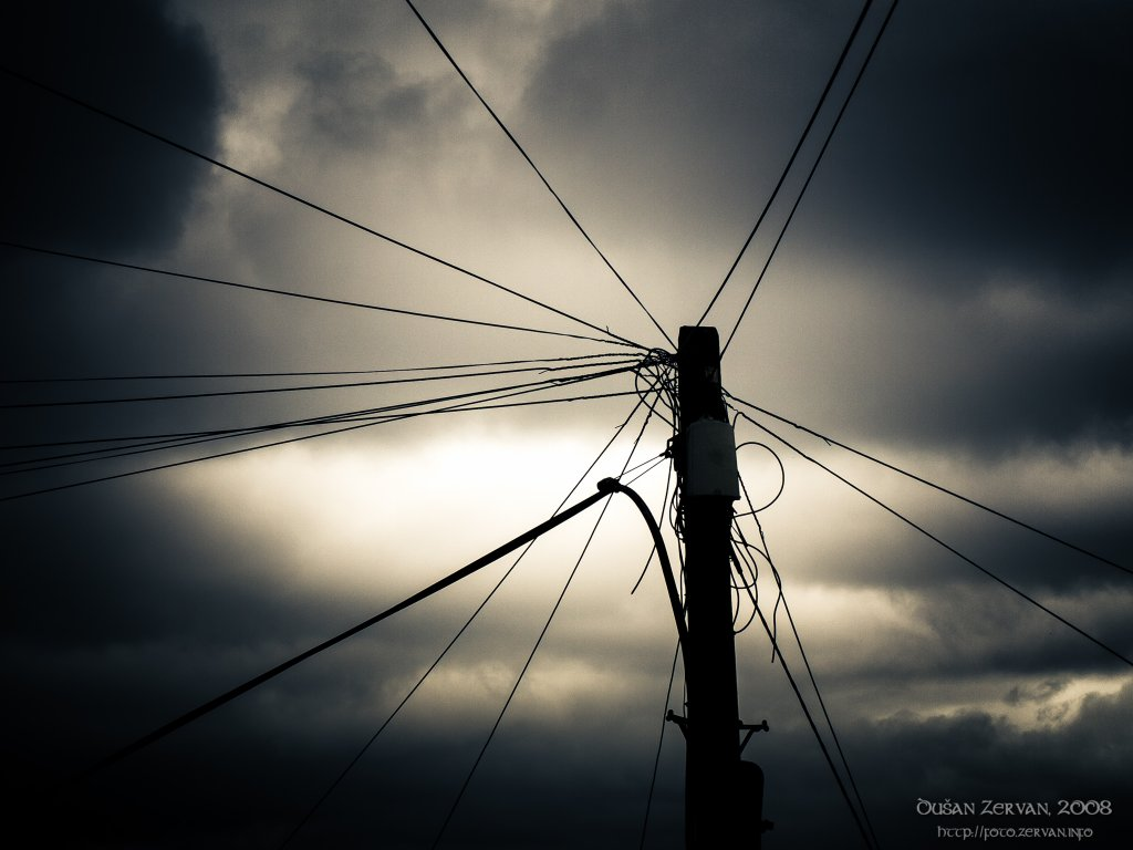 Pillar with cables, Cork, Ireland