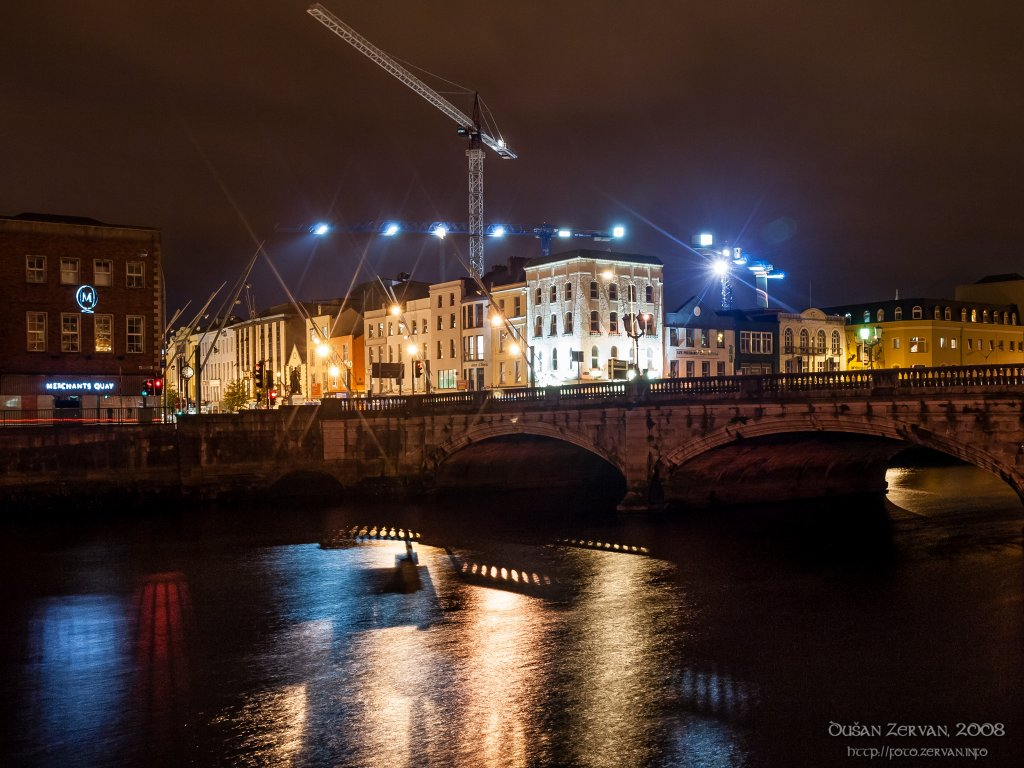 Construction in night Cork, Ireland
